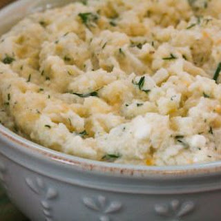Mashed Cauliflower with Cheese and Dill.