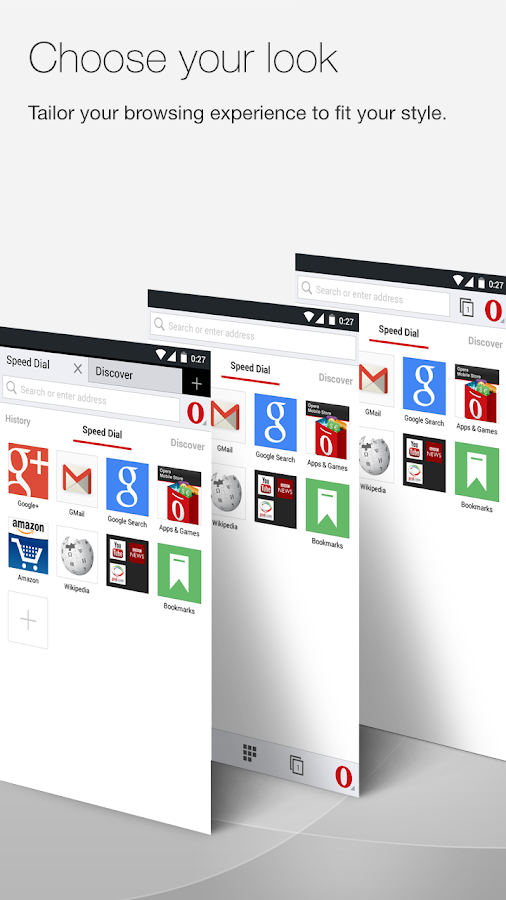 Opera browser beta - screenshot