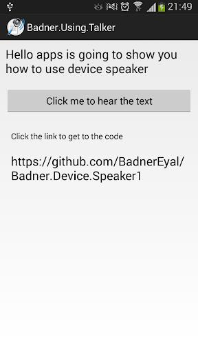 Device Speaker Example