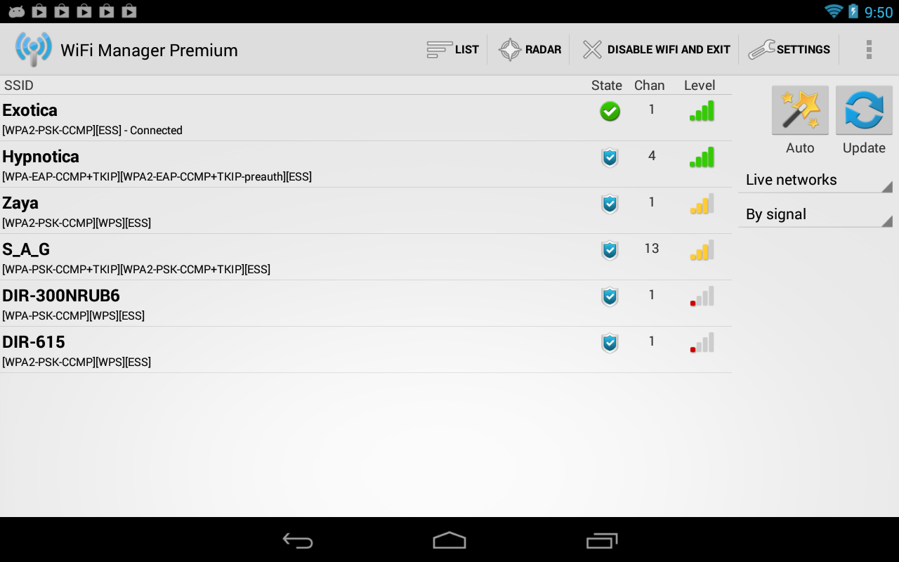 WiFi Manager - screenshot