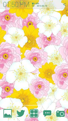[Floral Illust] 플라워 패턴 아톰 테마