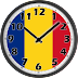 Romania Flag Analog Clock