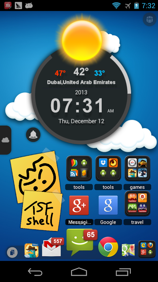 TSF Shell 3D Launcher - screenshot