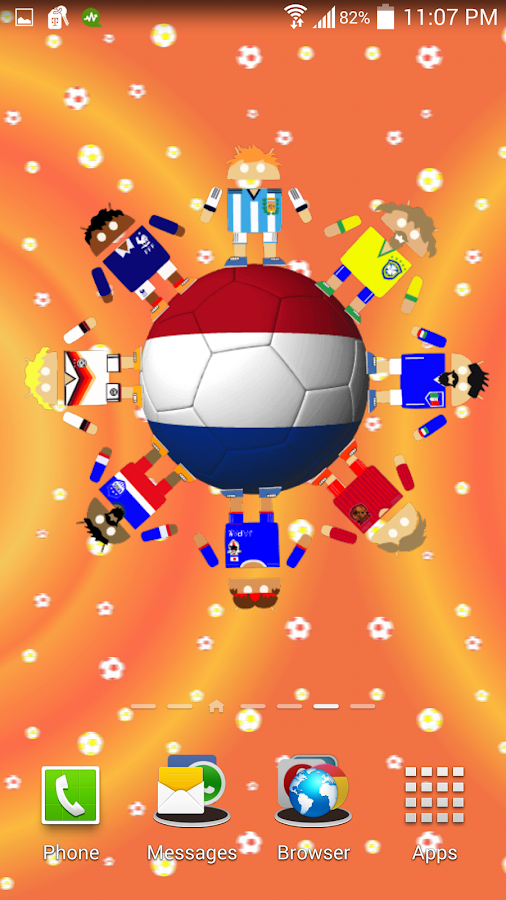 World Soccer Robots Wallpaper- screenshot