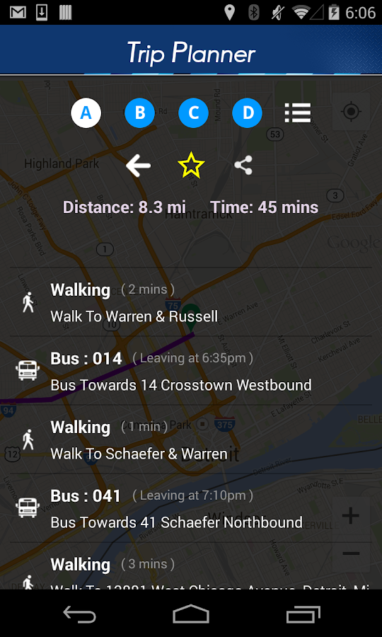 DDOT Bus App- screenshot