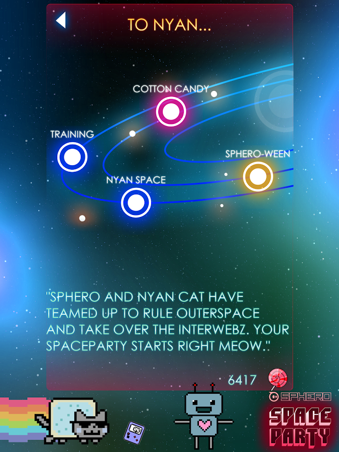 Sphero Nyan Cat Space Party - screenshot