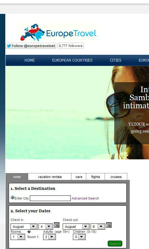 Europe Travel Network- screenshot