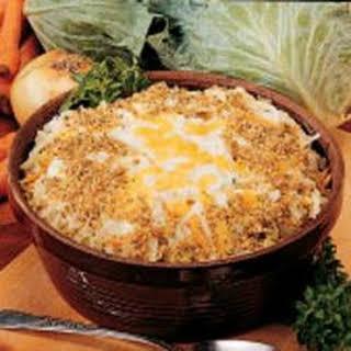 Scalloped Cabbage Casserole.