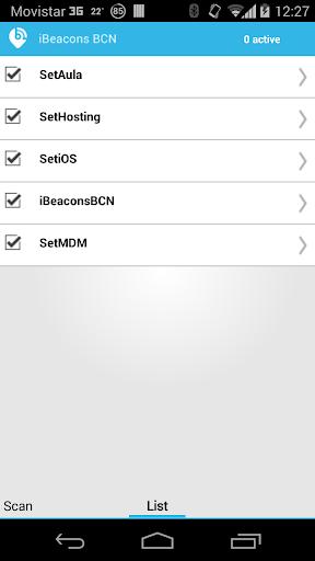 iBeacons BCN  screenshots 6