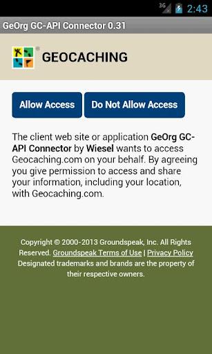 GeOrg GC-API Connector