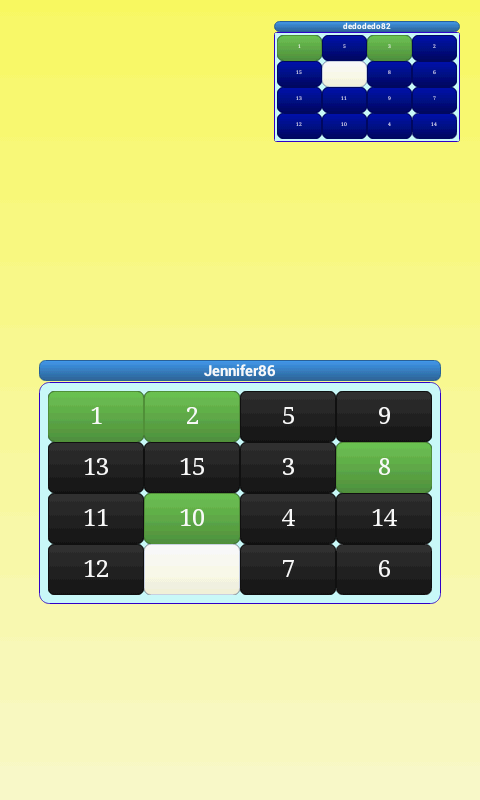 15 puzzle ONLINE FREE - screenshot