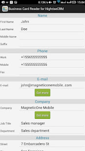 Business card reader for highrise crm google play reheart Images