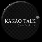 KakaoTalk Gentle Black Theme