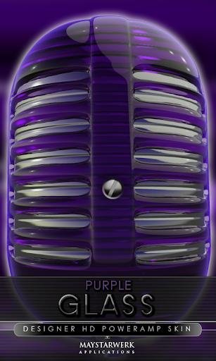 后皮肤紫色玻璃