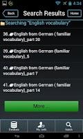 Screenshot of English Flashcards