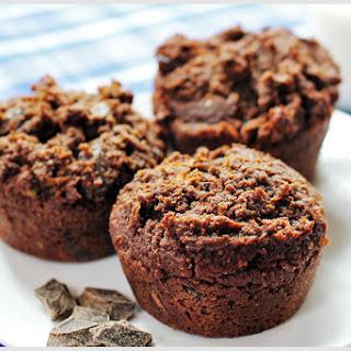 Chocolate Chocolate Chunk Zucchini Muffins