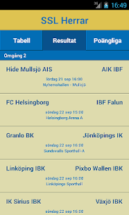Svensk Innebandys offic. app- screenshot thumbnail