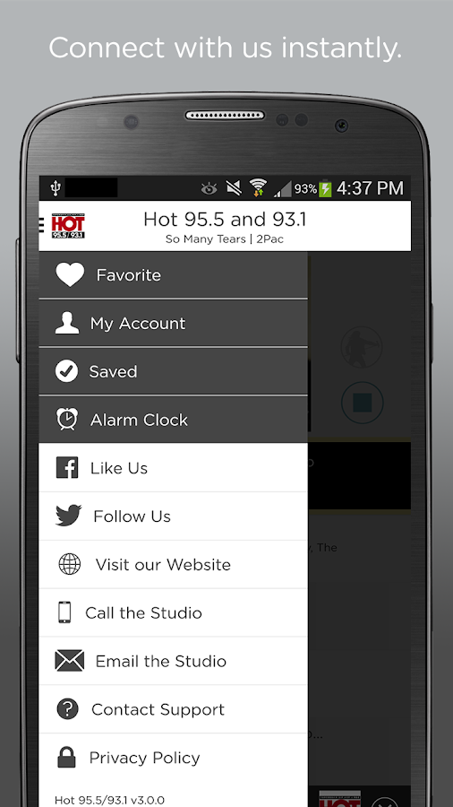 Hot 95.5/93.1- screenshot