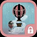 Hot air balloon protector icon
