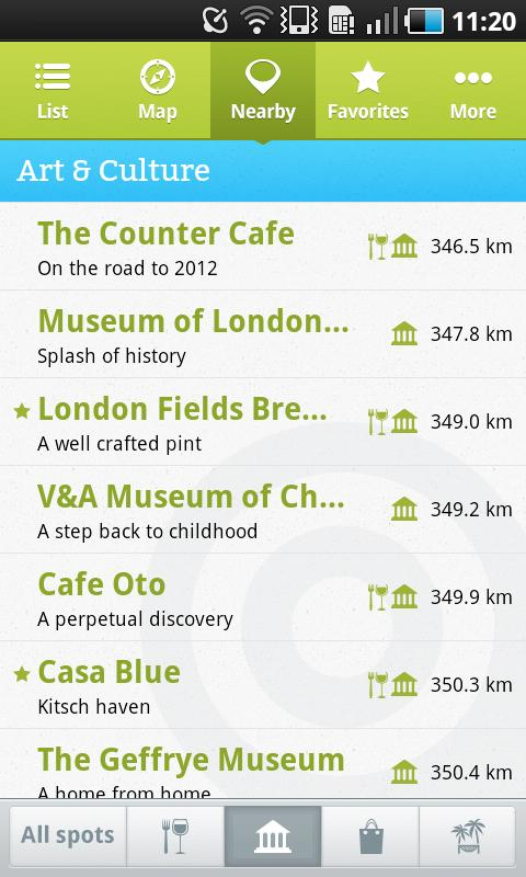 London local's tips - screenshot