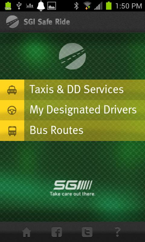 SGI Safe Ride- screenshot