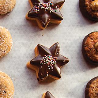 Schokiladen-Butter-plätzchen (Chocolate-Dipped Shortbread Cookies)