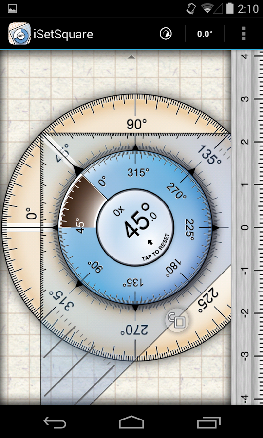 iSetSquare (Geometry angle)- screenshot