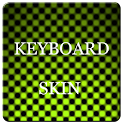Lime Carbon Keyboard Skin logo
