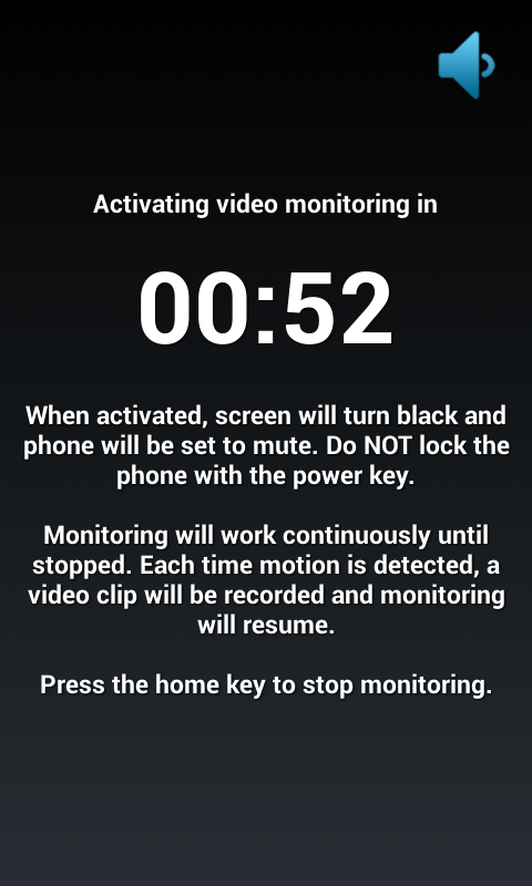 Motion Detector Video Rec Pro - screenshot