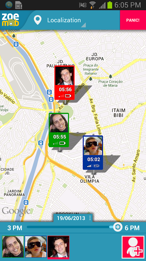 GPS tracking - screenshot