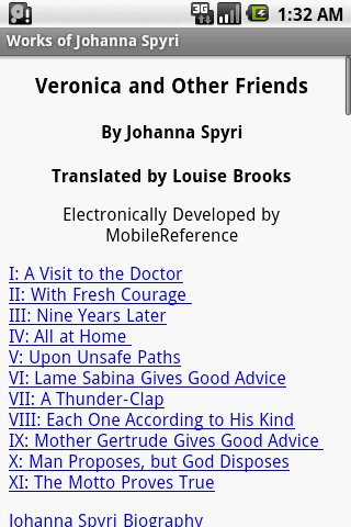 Works of Johanna Spyri- screenshot