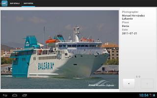 Screenshot of VesselFinder Pro