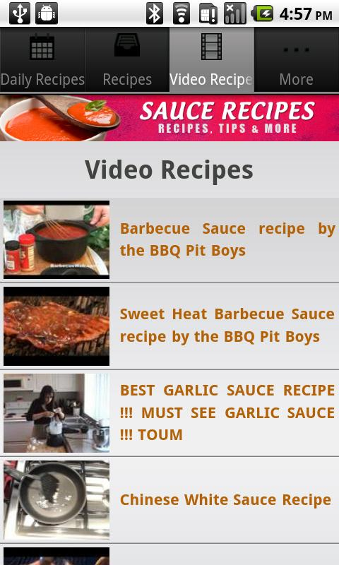 Sauce Recipes! - screenshot