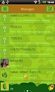 GO SMS Pro Veggie Hearts Theme - screenshot thumbnail
