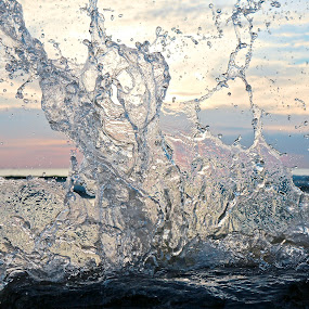 Summer splash by Jeremy Church - Nature Up Close Natural Waterdrops ( water, water art, michigan, lake michigan, beach, water splash )