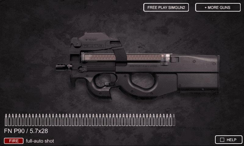 Sim Gun P90 - screenshot