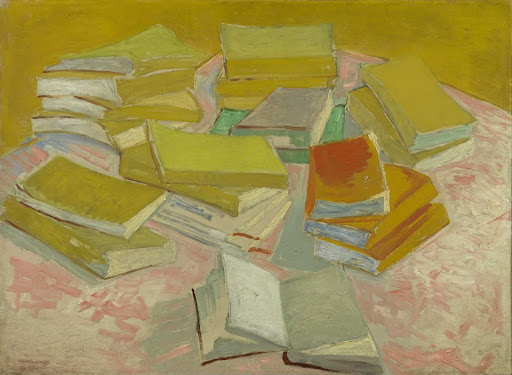 Piles of French novels