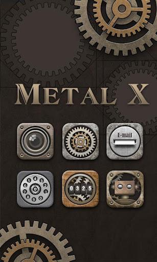 Metal X GO Launcher Theme