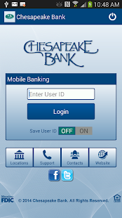 Chesapeake Bank Mobile Banking - screenshot thumbnail