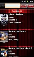 Screenshot of DVD Catalog