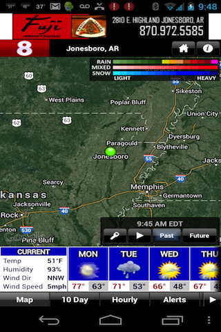KAIT Region8 StormTeam Weather - screenshot