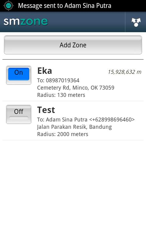 Auto Sms By Zone (LITE)- screenshot