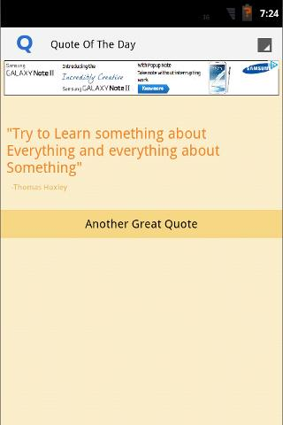 Quote of The Day App- screenshot