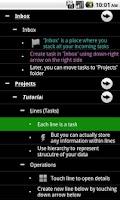 Screenshot of BeSharp (to-do list, Outliner)