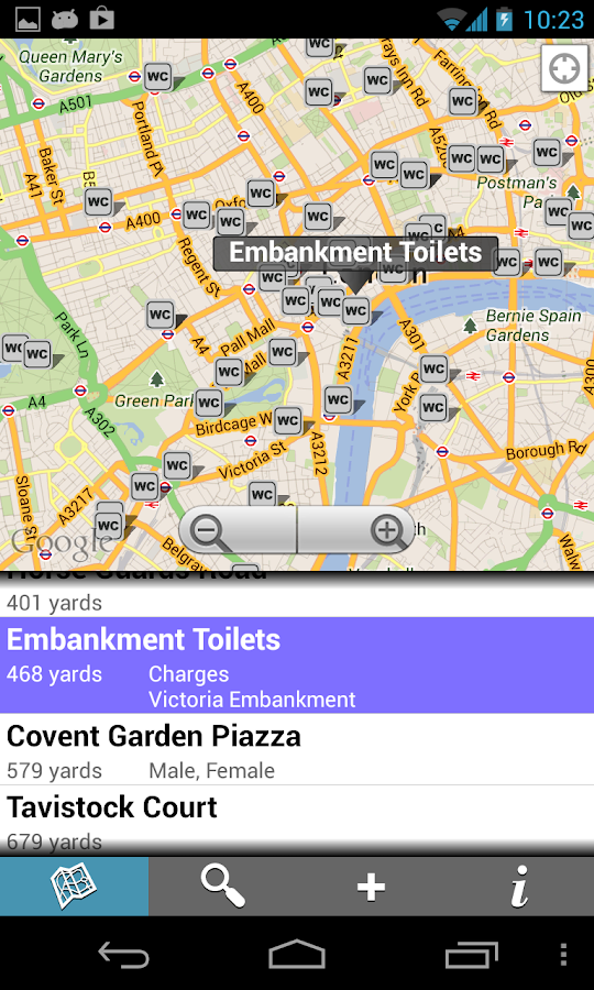 Find Toilets - screenshot