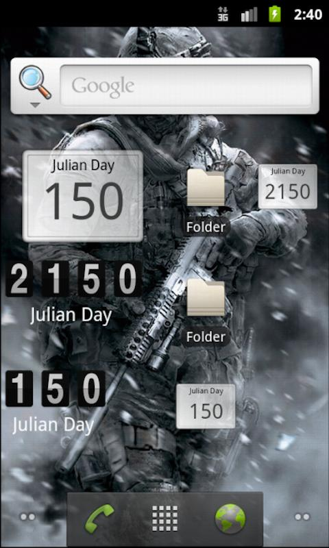 Julian Day Calandar - screenshot