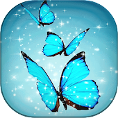Cyan Butterfly Live Wallpaper