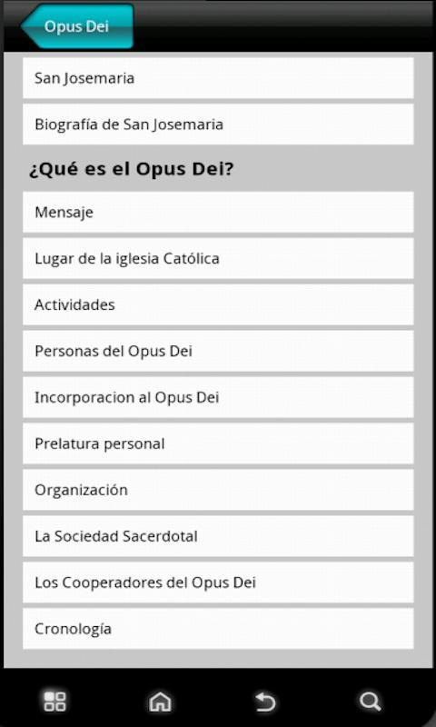 Opus Dei News - screenshot