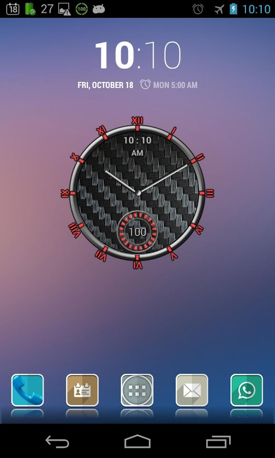 Super Clock Widget Full - screenshot