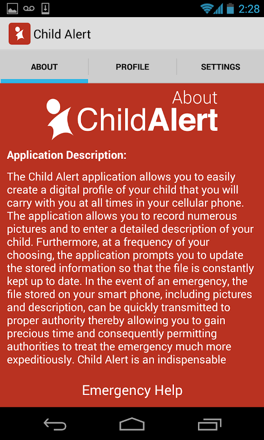 Child Alert- screenshot